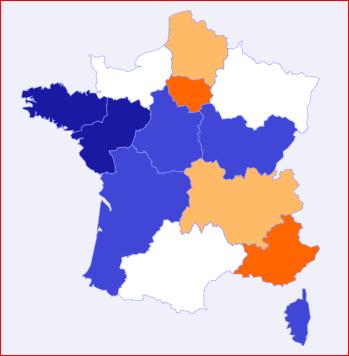 Carte interactives des prix de l'assurance auto en France