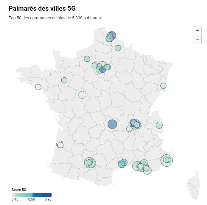 Palmarès des villes 5G