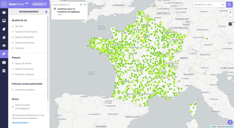 Carte interactive des initiatives pour la transition énergétique