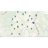 Cartes des Collèges du Cantal par type (public / privé)