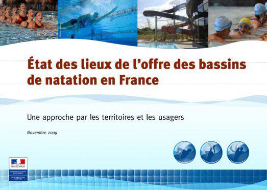 Etat des lieux de l'offre des bassins de natation en France