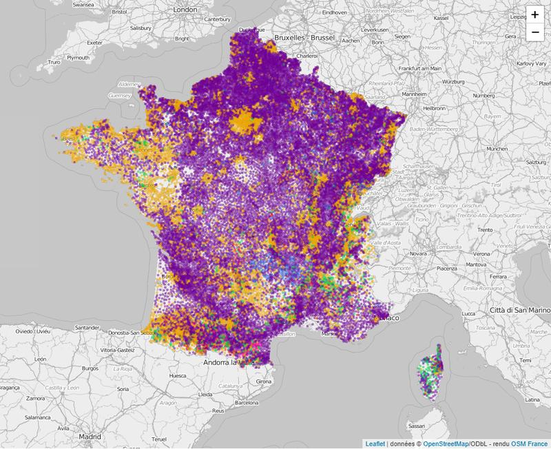 carte des communes de france Cartes de France (régions, départements, communes) des listes en