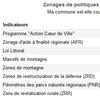 Module de consultation des zonages de l'Observatoire des territoires
