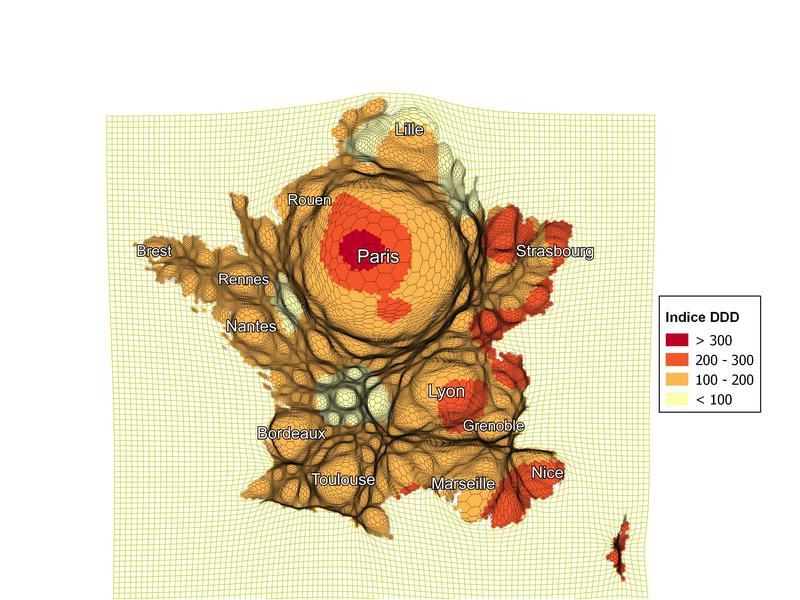 Dysfonction érectile : cartogramme des indices de consommation France