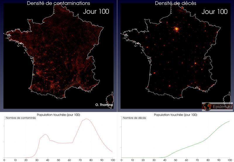 Modélisation de l'évolution des épidémies (CoViD-19)