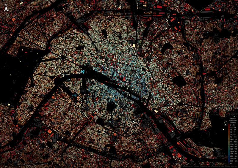 Age des bâtiments de PARIS