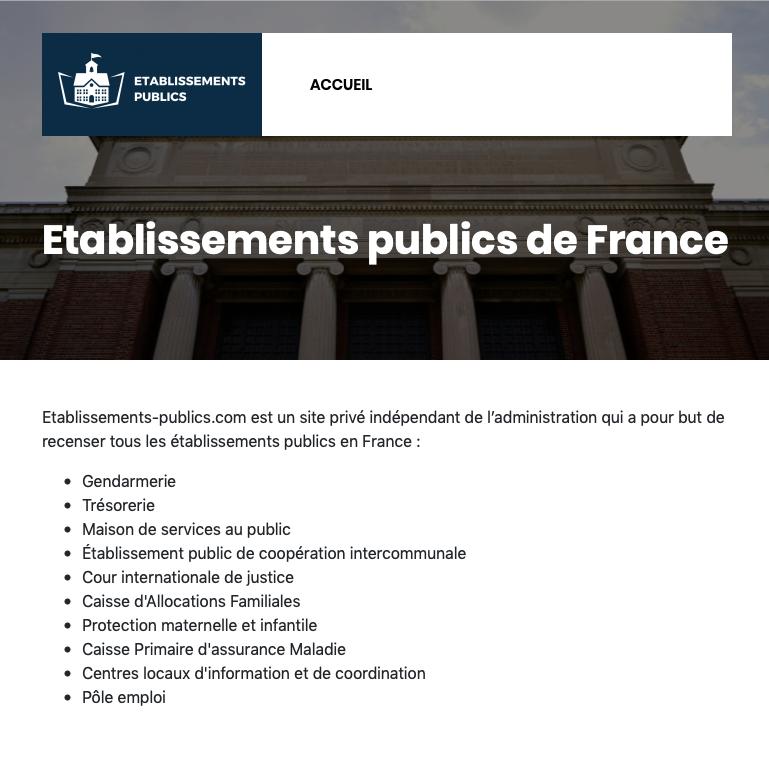 Etablissements-publics.com