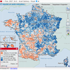 Cartographie nationale des résultats de l'élection présidentielle de 2007