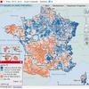 Cartographie nationale des résultats de l'élection présidentielle de 2012