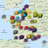 Carte interactive des écoles doctorales