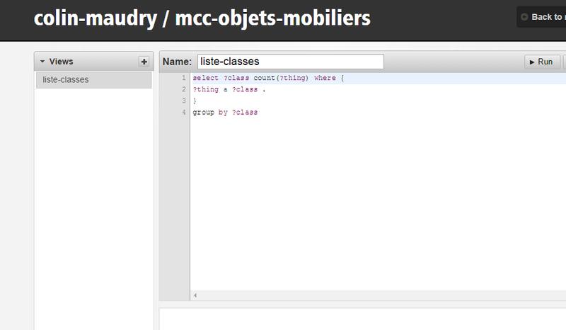Interface de requêtes SPARQL pour le thésaurus de la désignation des objets mobiliers