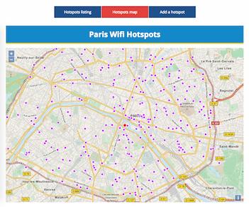 Hotspots Wifi publics de la Ville de Paris