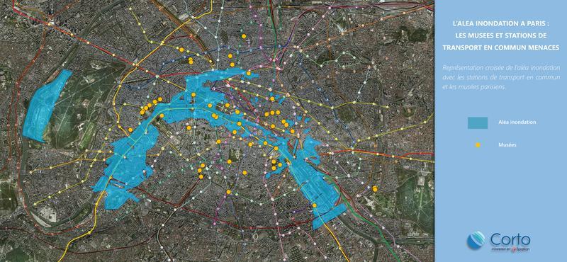 L'aléa inondation à Paris : : les musées et stations de transports en commun menacés