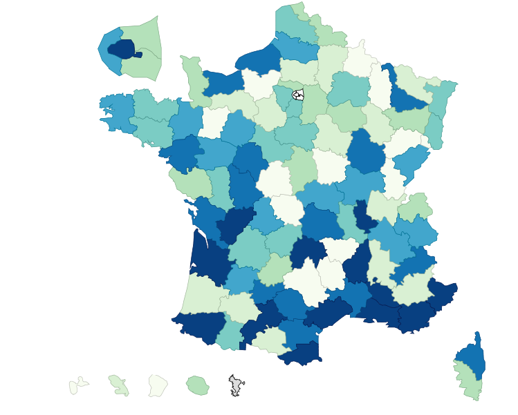 Repartition par specialite et departement