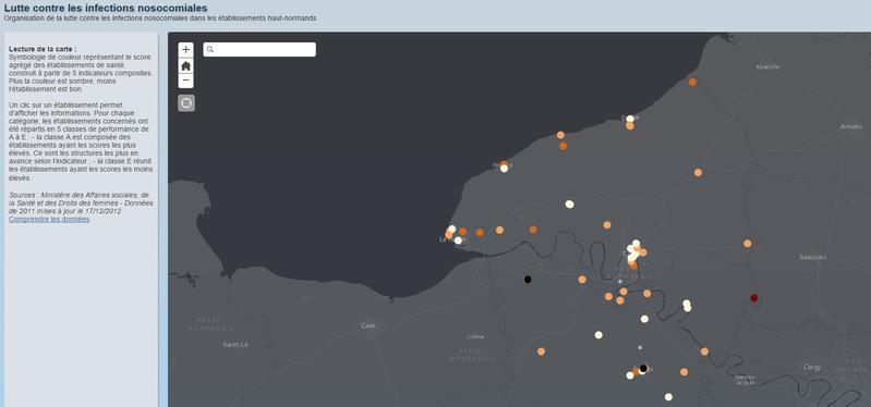 Lutte contre les maladies nosocomiales : cartographie des établissements haut-normands