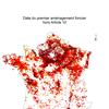 Analyse cartographique et tentative de bilan de 60 ans de procédures d'aménagement foncier.