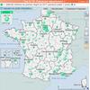 Cartographie interactive des effectifs du premier degré par département