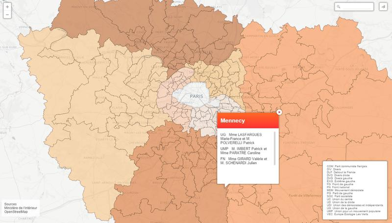 Élections départementales 2015 : la carte des candidats en Île-de-France