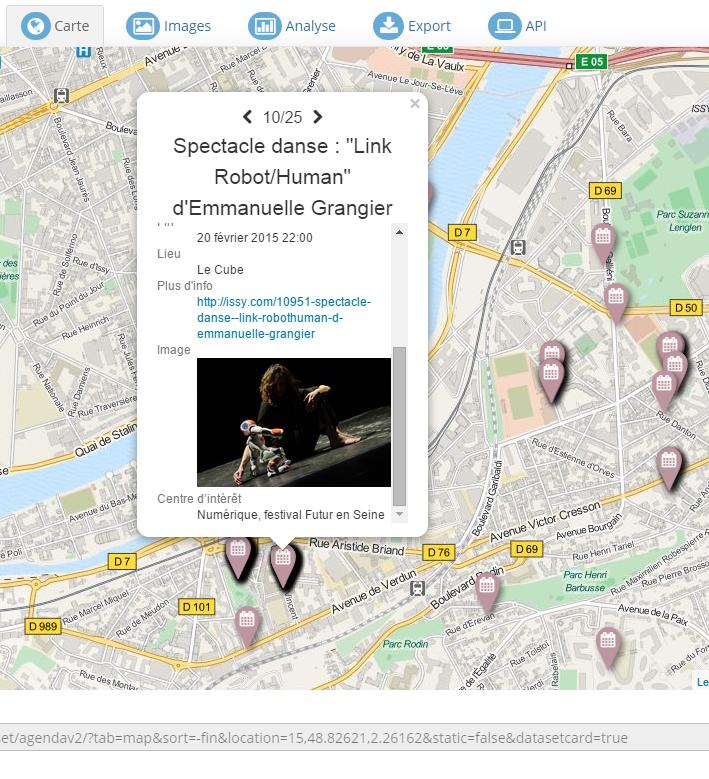 Carte des événements des 7 prochains jours à Issy-les-Moulineaux