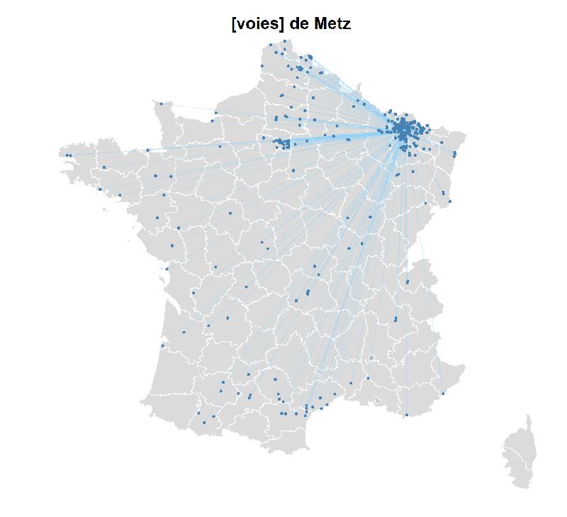 Odonymie sur les villes françaises