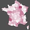 Cartographie des campagne viti-vinicole en France