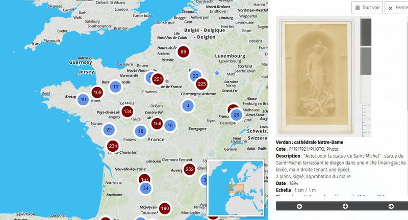 Les Cathédrales : plans, dessins et photographies des travaux de restauration (1802-1912)