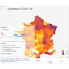 Carte évolution épidémie COVID-19