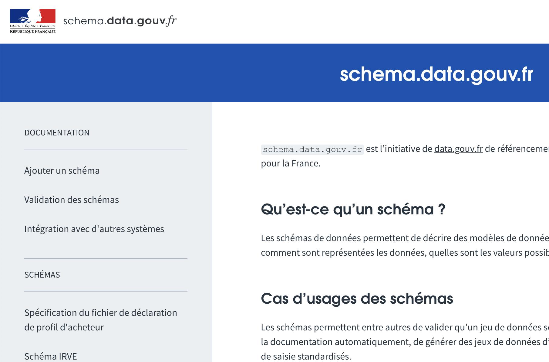 Lancement de schema.data.gouv.fr