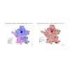 Election régionales 2021 - 1Tour - liste en tête et abstention par commune