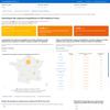 Statistiques des urgences hospitalières et actes médicaux SOS médecins Coronavirus COVID-19 en France (pays, département, région)  : cartographie, graphiques et courbes d'évolution