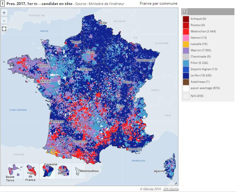 La puissance de la cartographie pour illustrer les résultats électoraux