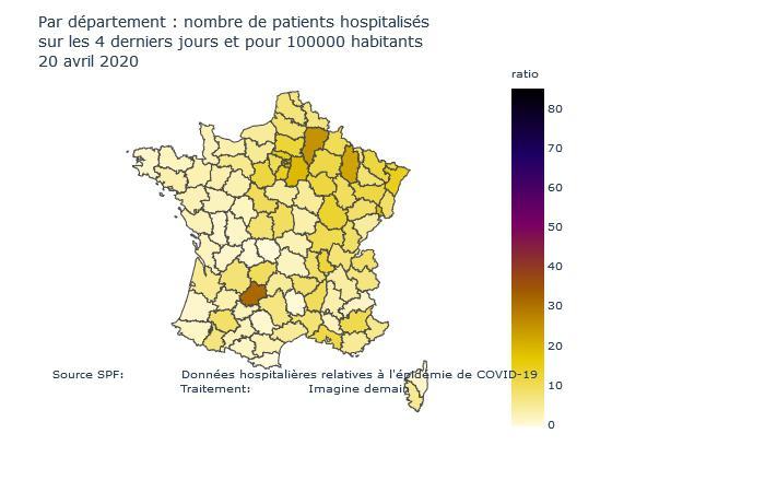 Au 20 avril la contagion au COVID19 en nette baisse, mais les derniers chiffres du Lot, de l'Aisne et de la Meuse questionnent