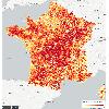 Carte des taux de logements vacants par commune en France en 2013
