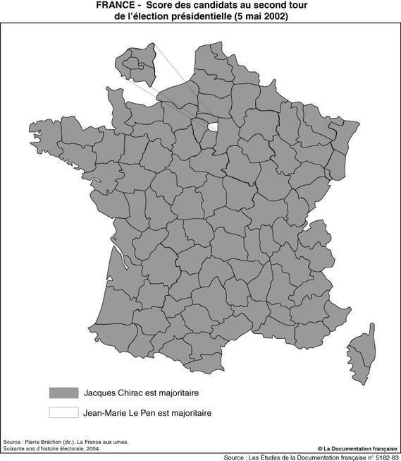 Élection présidentielle de 2002 : résultats du second tour