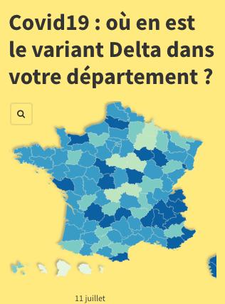 Evolution du variant Delta par département