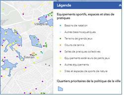 Cartographie dynamique des équipements sportifs, sites et espaces de sports de nature au 7 décembre 2017