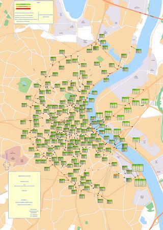 Carte de la circulation 2012