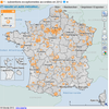 Cartographie des subventions execptionnelles accordées aux communes en 2012