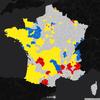 Election présidentielle 2017 (t1) : cartographie des résultats par circonscriptions (métropole et DOM TOM)