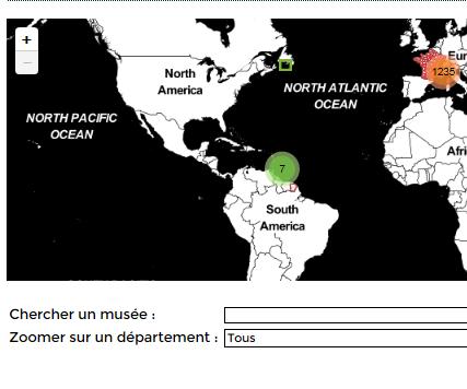 Localisation des musées