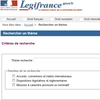 Recherche thématique sur Legifrance.