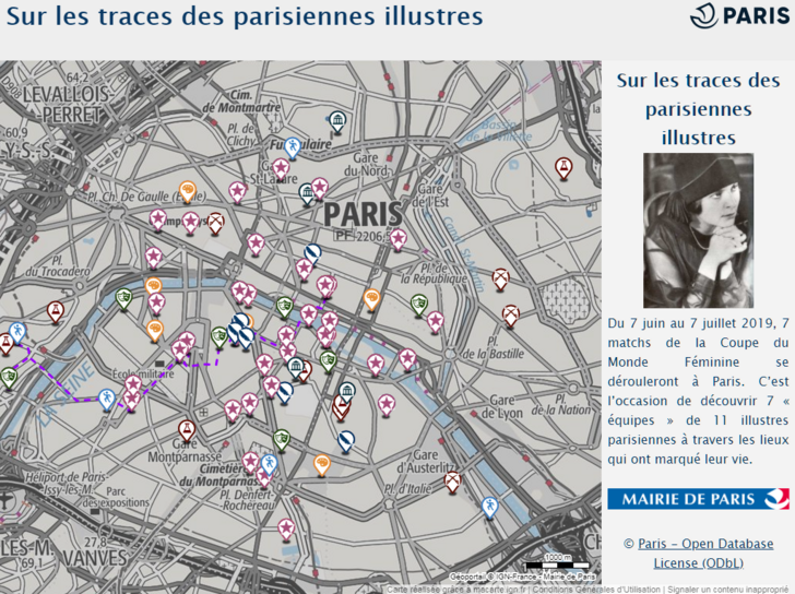 Femmes illustres à Paris