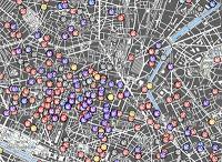 Carte de 1800 startups parisiennes