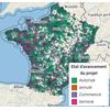 Carte des permis d'aménagement depuis 2017 en France - SITADEL