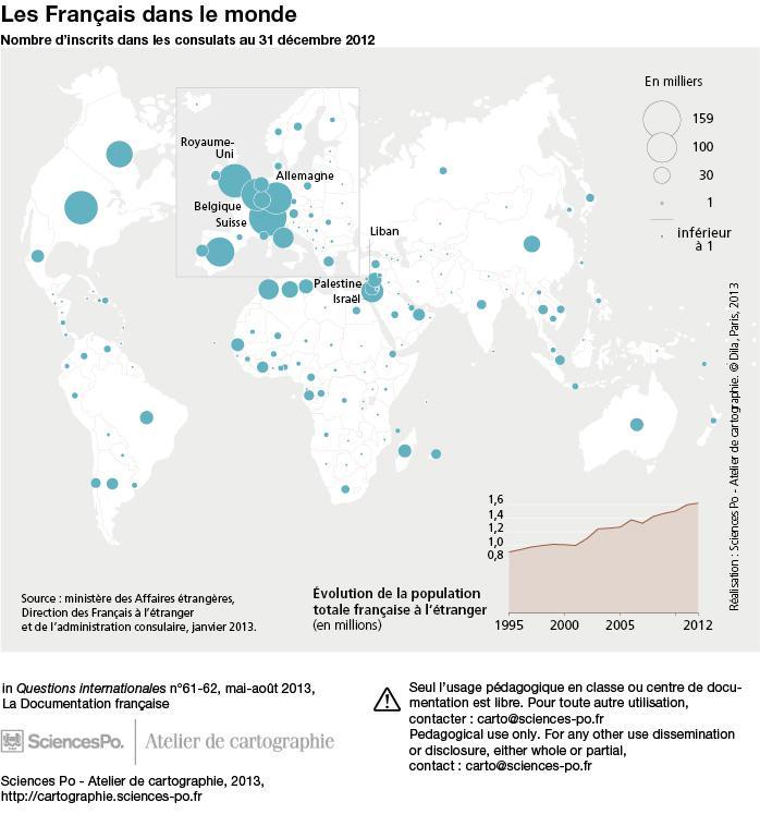 Les Français dans le monde, 31 décembre 2012