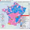 Cartographie nationale des résultats des élections législatives de 2012
