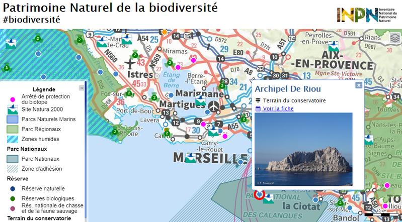 Carte du patrimoine naturel de la biodiversité