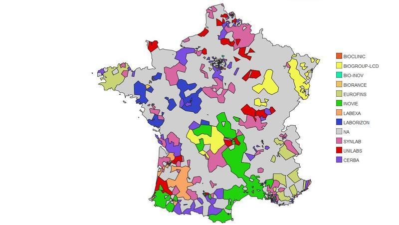 Atlas de la biologie médicale privée en France