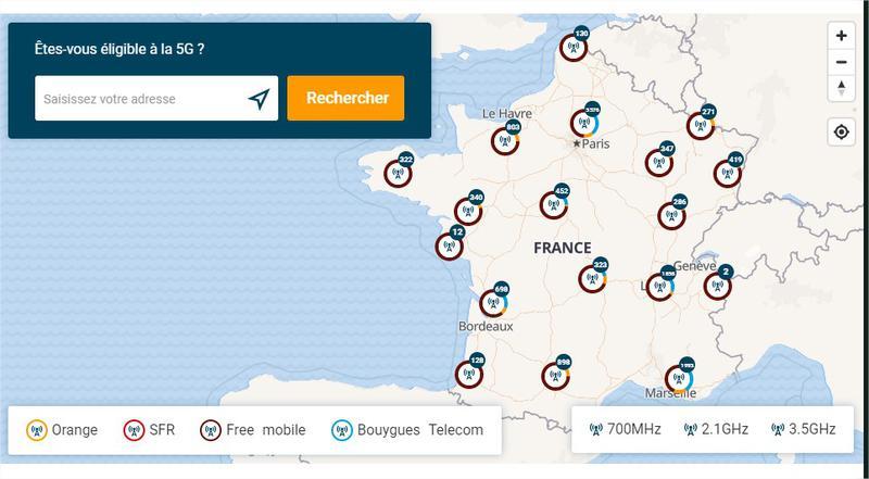 Antennes 5G en France