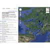 Carte des appellations des vins de France et cépages